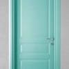 porta in legno pantografata laccata verde chiaro a battente dorica castelli
