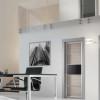 porta interna in laminato con alluminio zero chimico in rovere decapè con vetro nero coprente lucido a battente oxalis ican