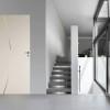 porta in legno filomuro laccato bianco puro con inserimento in acciaio battente dorica castelli