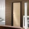 porta in legno marrone sappia e rovere sbiancato con cerniere a scomparsa battente modello m4 dorica castelli