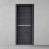 porta in legno rovere tinto grigio battente modello m4 dorica castelli