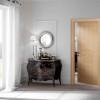 porta in legno pantografata alder sbiancato con incisione a bugna battente dorica castelli
