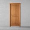 porta in legno pantografata alder tinto miele battente dorica castelli