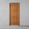 porta in legno pantografata alder tinto miele con cornici arrotondate battente dorica castelli