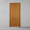 porta in legno pantografata alder tinto miele con finitura anticata e versione a libro dorica castelli