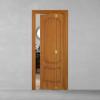 porta in legno pantografata alder tinto miele con finitura anticata e versione a libro dettaglio dorica castelli
