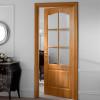 porta in legno pantografata alder tinto miele in noce tanganika battente dorica castelli