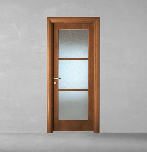 Porta in legno pantografata alder tinto noce con telaio - Porte noce chiaro ...