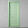 porta in legno pantografata frassino verde chiaro in massello orizzontale battente dorica castelli